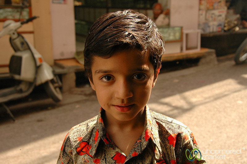 Curious Boy at the Market - Udaipur, India