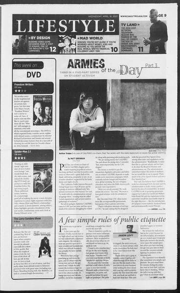 Daily Trojan, Vol. 160, No. 61, April 18, 2007