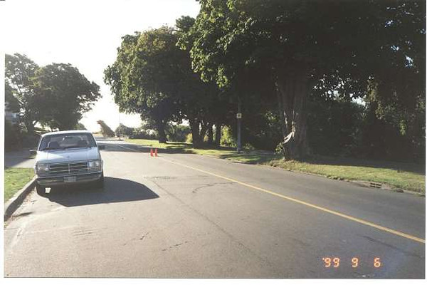Royal Victoria Marathon Landmarks - 1999 Course - 10 km - Dallas Rd.