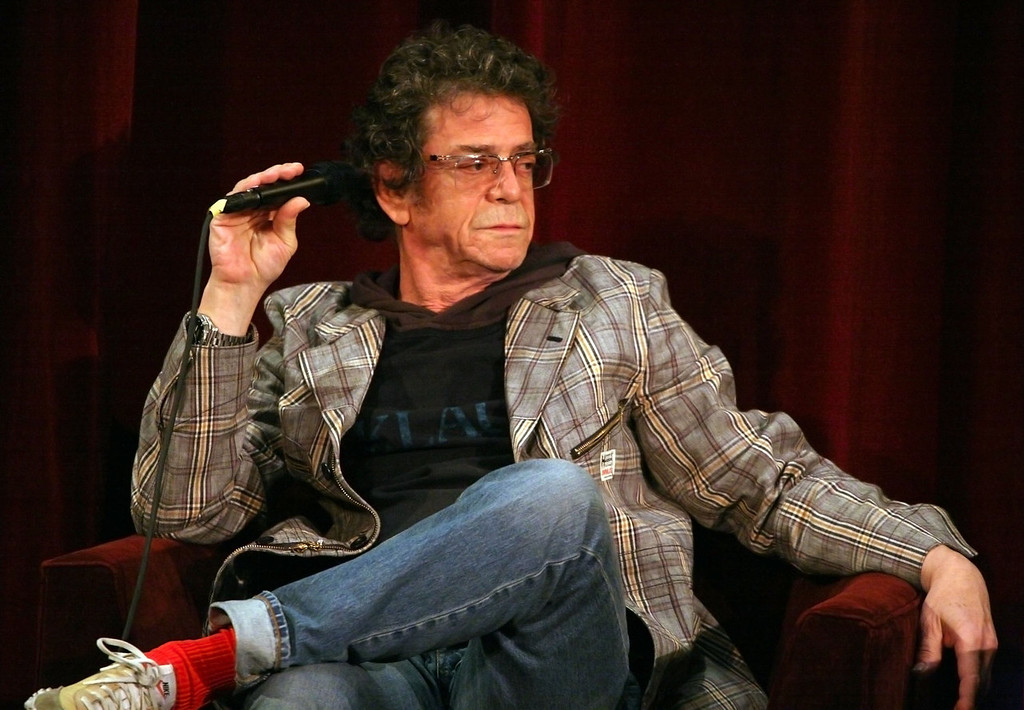 . Musician Lou Reed answers questions from the audience at the \'Celebrating Berlin With Lou Reed At The 2008 Tribeca Film Festival\' held inside the Directors Guild Theater on May 4, 2008 in New York City  (Photo by Astrid Stawiarz/Getty Images for Tribeca Film Festival)