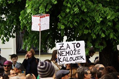 Demonstrace proti Andreji Babišovi 10. 5. 2017