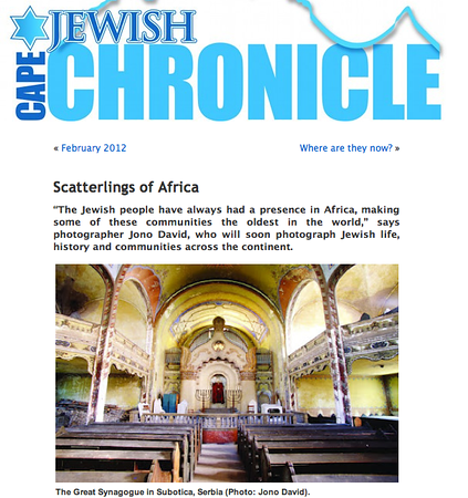 Cape Jewish Chronicle, Cape Town, South Africa. March 2012