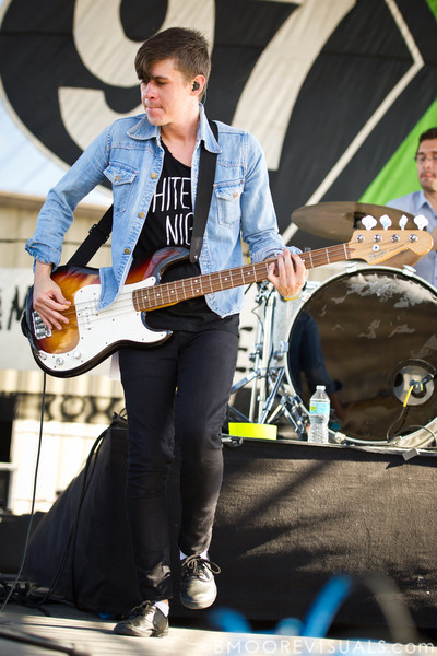 Nate Harold of fun. performs on December 3, 2011 during 97X Next Big Thing at 1-800-ASK-GARY Amphitheatre in Tampa, Florida