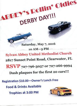 """2016-05-07......Sylvan Abbey United Methodist Church...Car Show...""""Abbey's Rollin Oldies"""""""