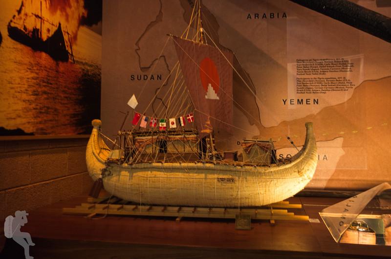 Model of the Tigris in the Kon-Tiki Museum