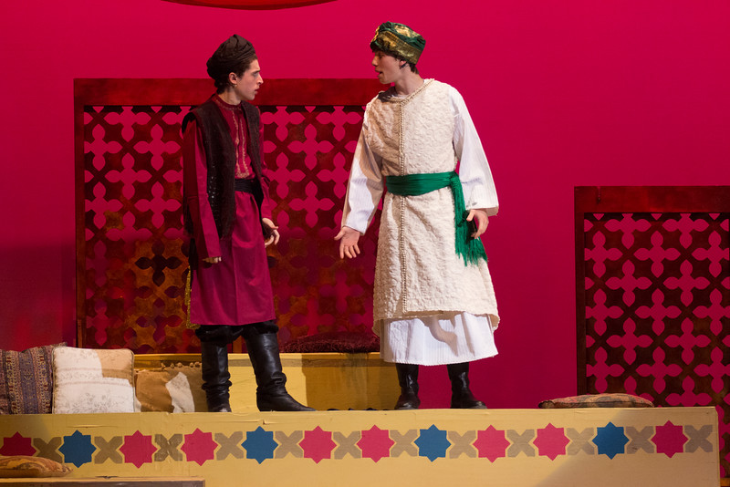 """And This is My Beloved"" quartet (Wazir, Caliph, Hajj, Marsinah) -- Kismet, Montgomery Blair High School spring musical, April 15, 2016 performance (Silver Spring, MD)"