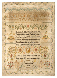 201111 Antique Cross-stitch samplers