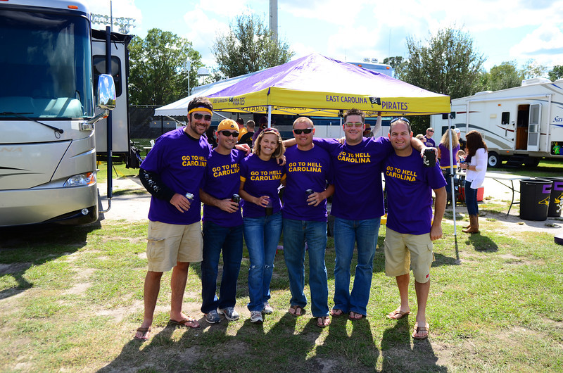 10/1/2011 ECU vs North Carolina  Preston, Chris W, Stephanie, JG, Chris K, Jon Deutsch
