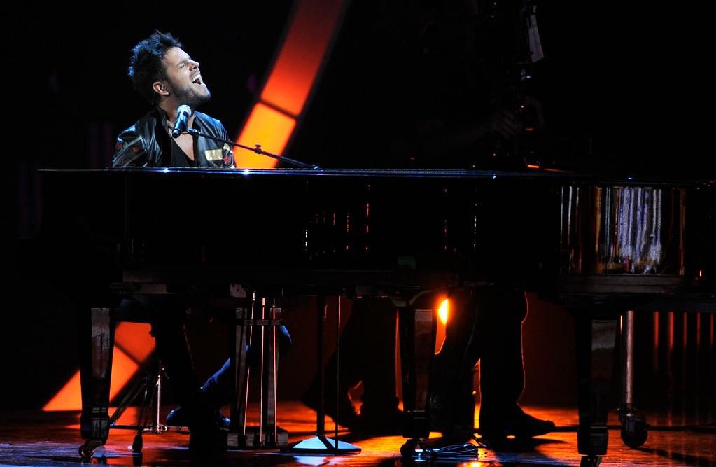 . Pablo Lopez performs at the 15th annual Latin Grammy Awards at the MGM Grand Garden Arena on Thursday, Nov. 20, 2014, in Las Vegas. (Photo by Chris Pizzello/Invision/AP)