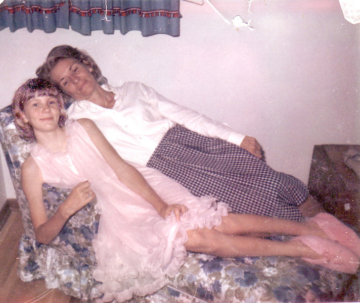 My mom and I in one of my favorite photos. Here I was twelve.