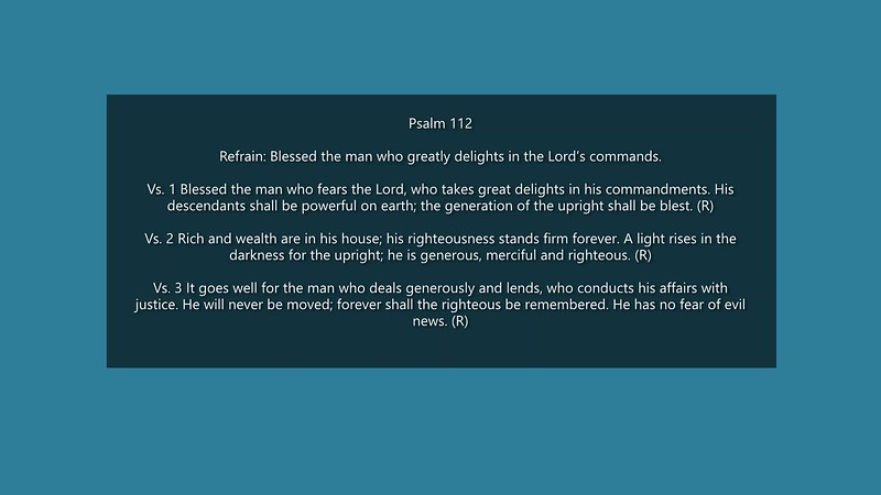 Ps. 112 Blessed the man who greatly delights in the Lord's commands.mp4