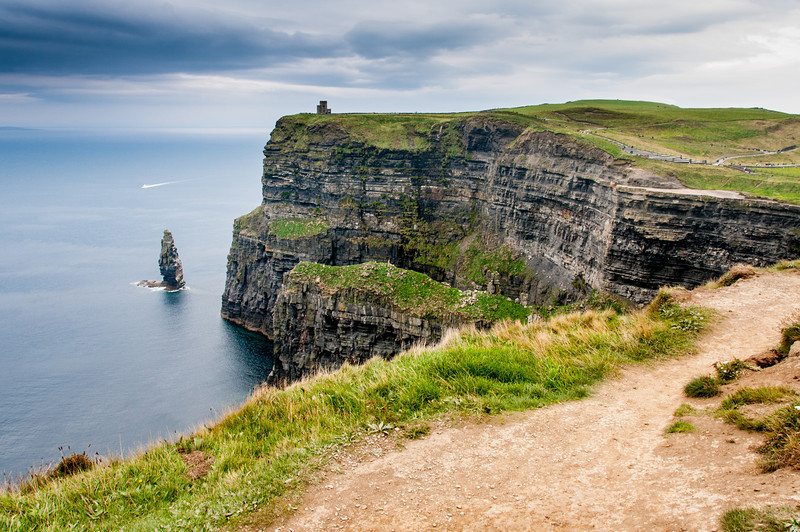 Breathtaking views of the cliff and ocean from Cliffs of Moher, Ireland