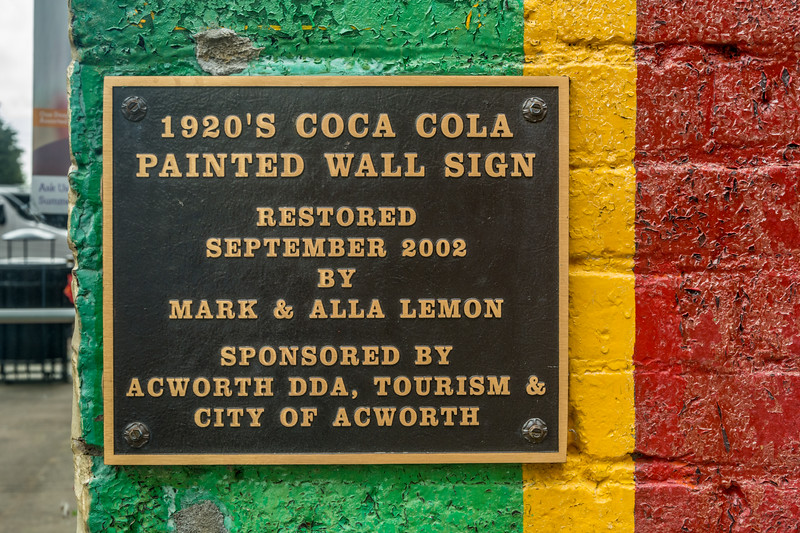 GA, Acworth - Coke Sign Plaque