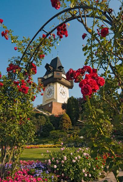 Uhrturm (Clock Tower), Grazer Schlossberg Hill, Graz, Styria, Austria