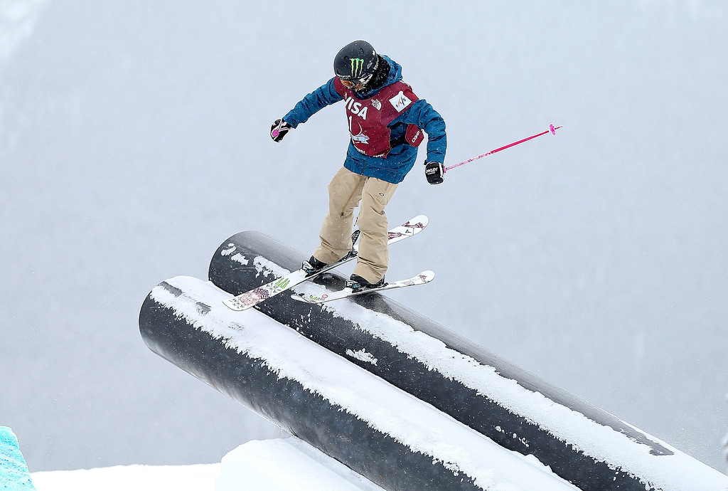 . Maggie Voisin competes during finals for the womens FIS Ski  Slopestyle World Cup at U.S. Snowboarding and Freeskiing Grand Prix on December 21, 2013 in Copper Mountain, Colorado.  (Photo by Mike Ehrmann/Getty Images)