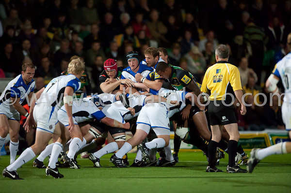 Northampton Saints vs Bath, Aviva Premiership, Franklin's Gardens, 17 September 2010