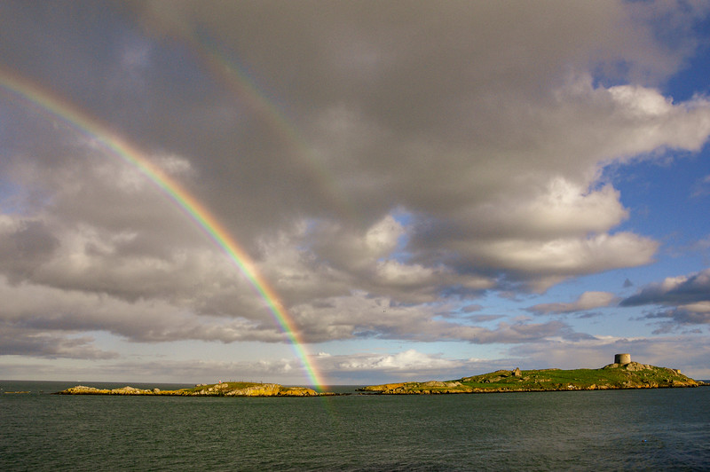 Rainbow over Dalkey Island, from Coliemore Harbour