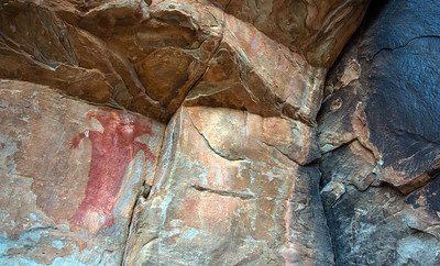 Fort Pearce petroglyphs and Red Man pictograph