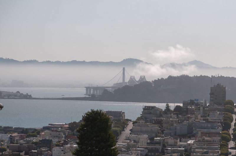Heute war der Nebel nicht besonders stark.