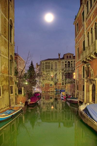 Moonlight Canal,  Venice, Italy