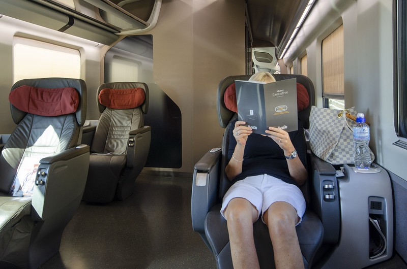On the train to Florence