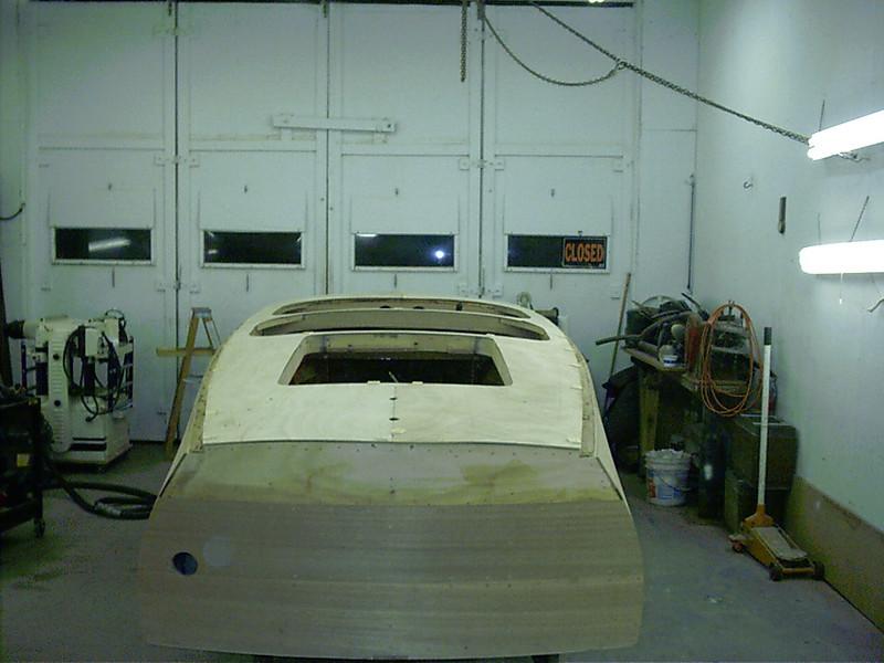 Plywood deck skin fit.