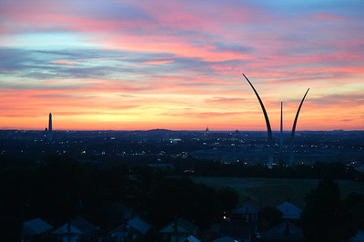 Sunrise over Washington, DC from Arlington, Va. - July 6, 2014