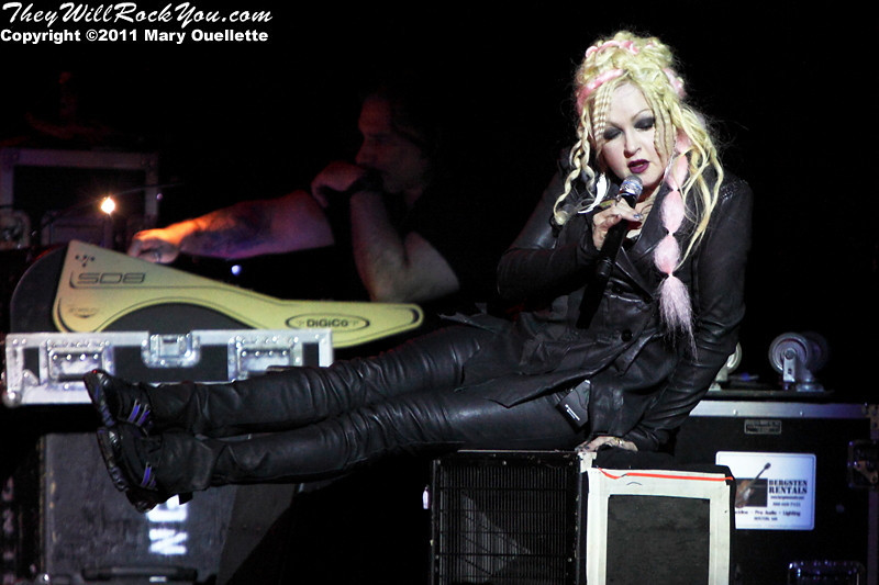"""Cyndi Lauper performs on her """"From Memphis To Mardi Gras Tour"""" on  October 23, 2011 at the House of Blues in Boston, Massachusetts"""