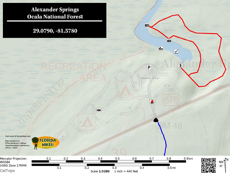 Alexander Springs Recreation Area Trail Map