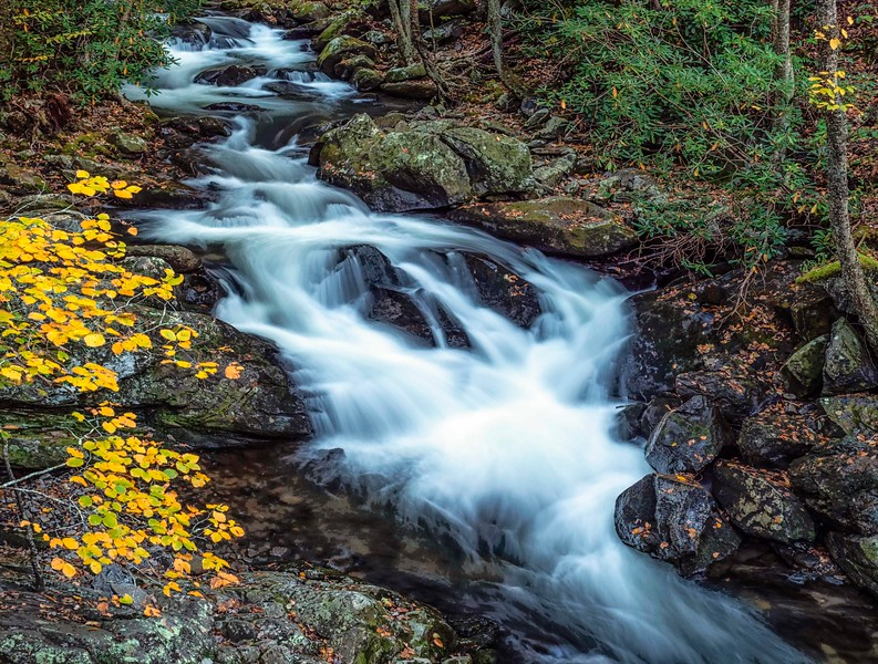 Cascading mini waterfalls