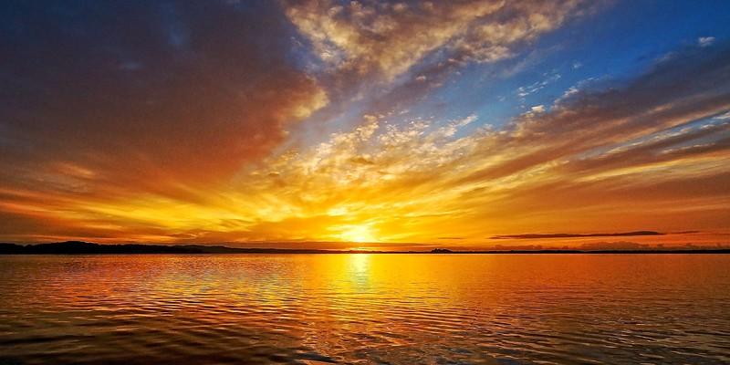 Golden sunrise seascape Australia