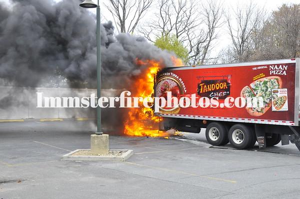 HICKSVILLE FD TRUCK FIRE 11-30-10