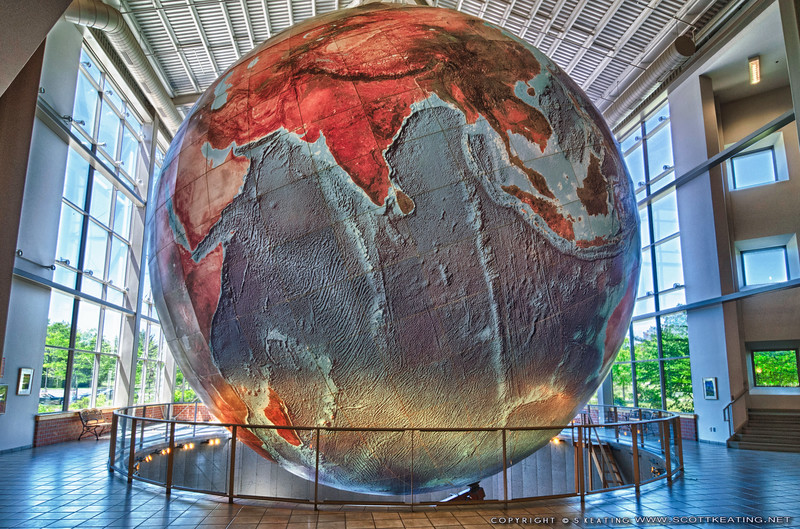 """Eartha"" at DeLorme in Yarmouth, Maine - The World's Largest Revolving and Rotating Globe"