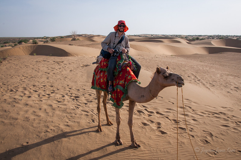Stephen at Thar Desert  of Rajasthan