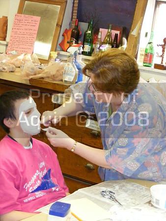 8th grade art . mask making 4.15.08