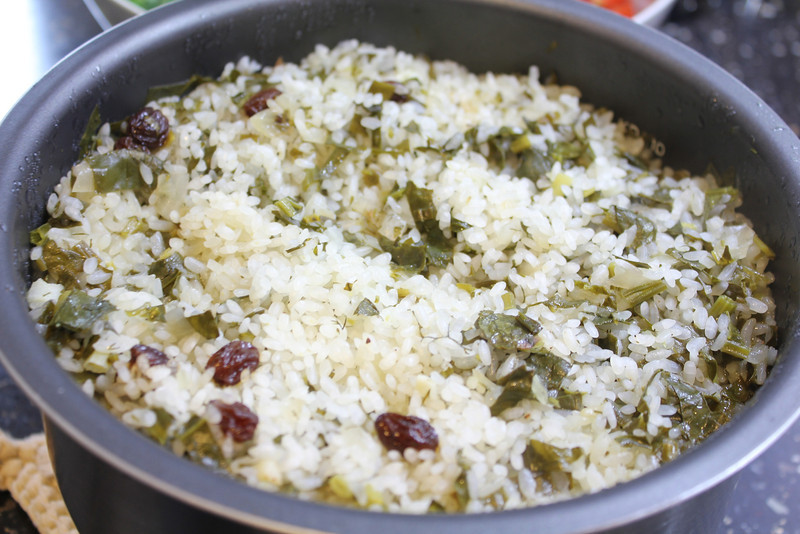 Mediterranean Cooking Class January 23, 2013: Turkish spinach pilaf