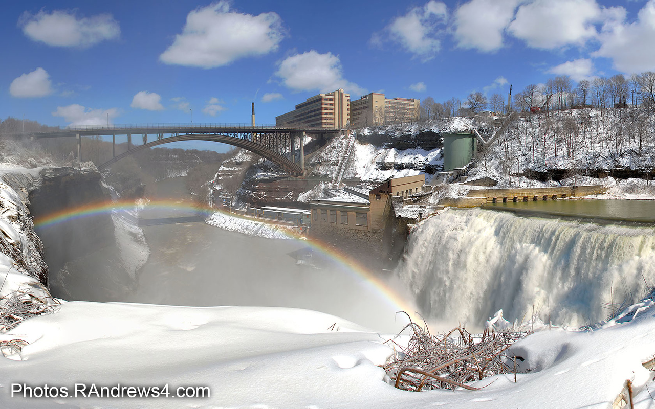 Lower Falls Rainbow and Driving Park Bridge