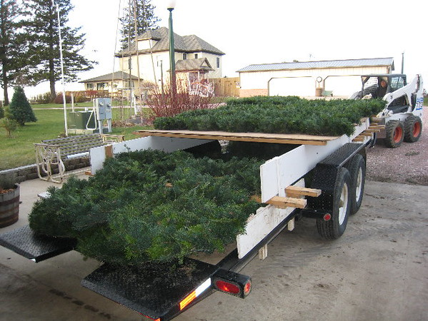 Another view of the wreath trailer