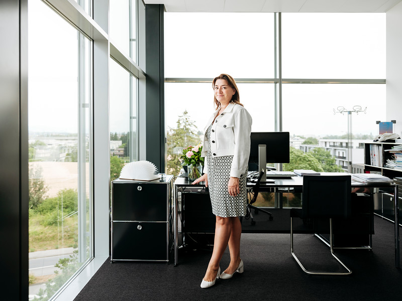 Fabienne Lupo in her office at the Fondation de la Haute Horlogerie, Meyrin, Switzerland - Samuel Zeller for The New York Times
