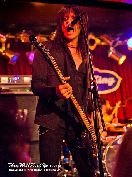 """Nick Douglas of Doro performs on February 4, 2013 during her tour in support of """"Raise Your Fist"""" at BB Kings in New York, NY"""