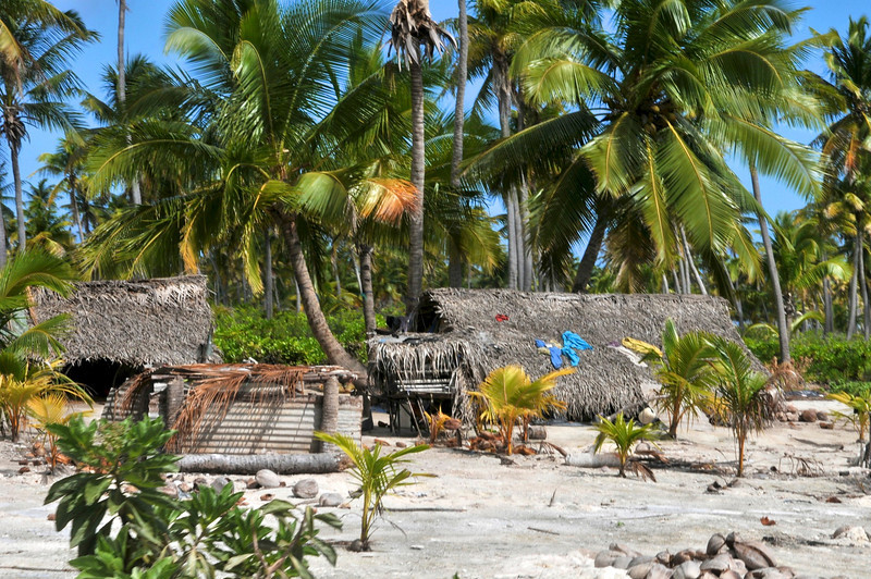Remote village on a remote island in between Fiji and Hawaii