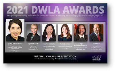 10-20-2021 Dallas Woemn Lawyers Asso. Awards VIP Reception