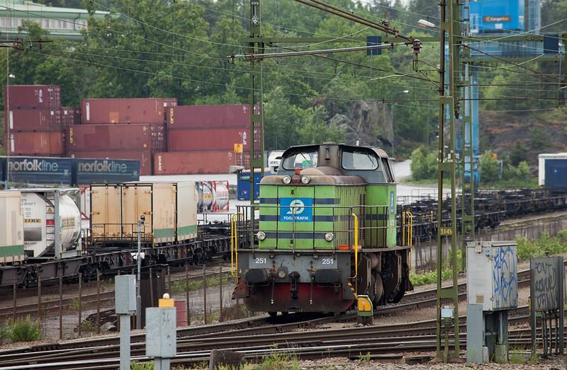 TGOJ T43 251 in the Vestberga intermodal terminal.