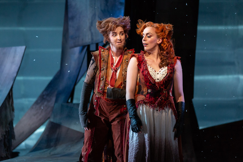 "Alyssa Martin as the Fox and Joanna Latini as the Vixen in The Glimmerglass Festival's 2018 production of Janáček's ""The Cunning Little Vixen."" Photo: Karli Cadel/The Glimmerglass Festival"