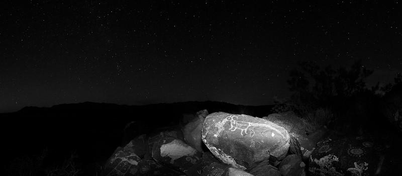 Three Rivers Petroglyph At Night #2