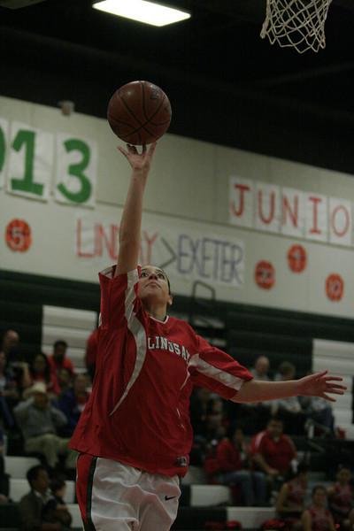 Lindsay vs. Exeter Girls Basketball 2-26-13