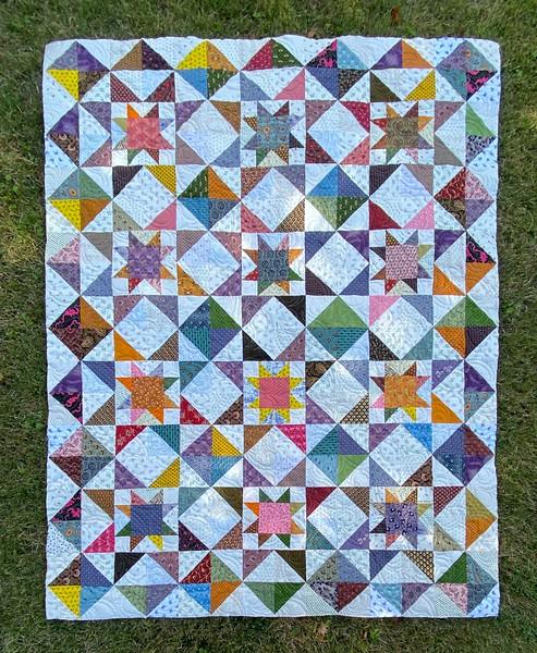 Delta Star pattern - pieced by John Putnam
