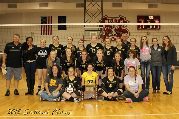 2015 Volleyball Sectional Championship Match Pioneer vs South Newton