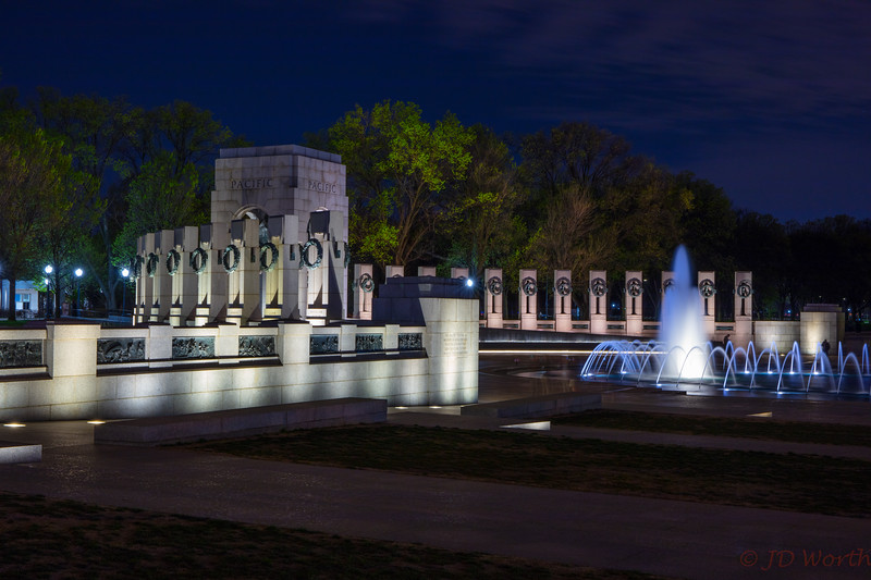 042118 Washington DC - WWII Memorial - Pacific Theater West View Night-2248.jpg
