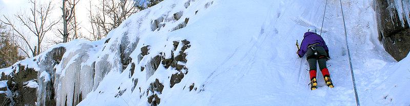 Ice Climbing the Quarry, Welsford NB